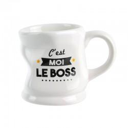 Mug Déformé C'est Moi Le Boss Blanc