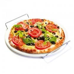 Coffret Pierre à Pizza avec Support et Roulette