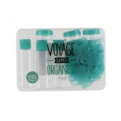 Coffret de Voyage 10 Pièces Voyage Super Organisé Vert