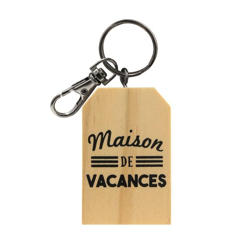 attractive price sneakers for cheap buying cheap Porte-clés Bois Maison de Vacances - Idée cadeau original et pas cher