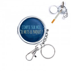 Cendrier de Poche Compte Sur Moi Je Mets Le Paquet Bleu