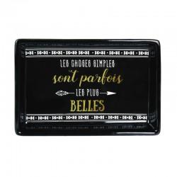 Vide-Poches en Céramique Les Choses Simples Les Plus Belles Noir