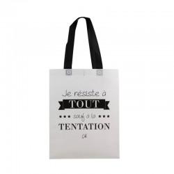 Sac Shopping Je Résiste A Tout Blanc