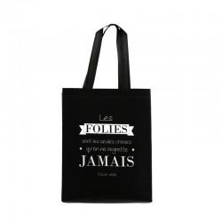 Sac Shopping Les Folies Noir