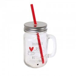 Mason Jar Love Message 45cl Journée du Bizzzzou