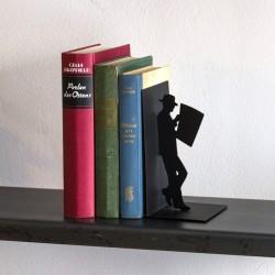 Serre-Livres en Métal Le Lecteur