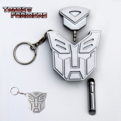 Porte-Clés Stylet et Double Prise Jack Transformers