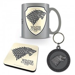 Set Mug, Sous-Verre et Porte-clés Game Of Thrones