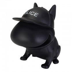 Tirelire Bouledogue Policeman