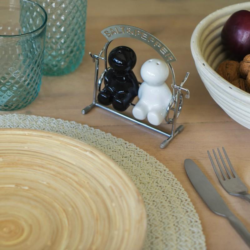 Set Sel et Poivre en Céramique - Balançoire à Bascule