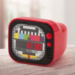 Réveil TV Rétro Rouge