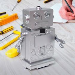 Boite à Outils Robot Argenté avec Lumière