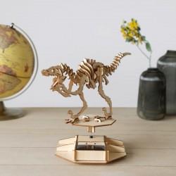 Puzzle 3D Solaire en Bois - Dinosaure