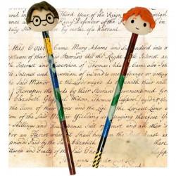 Set de 2 Crayons avec Gommes Harry Potter