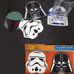 Pack de 4 Sous-Verres en Silicone Star Wars
