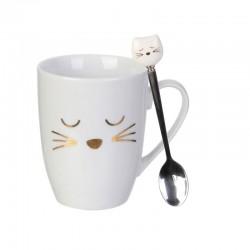 Mug Chat 30 cL avec Cuillère
