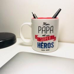 Mug en Céramique Papa Super Héros