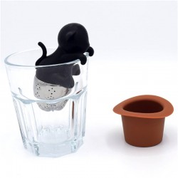 Infuseur à Thé Chat Noir