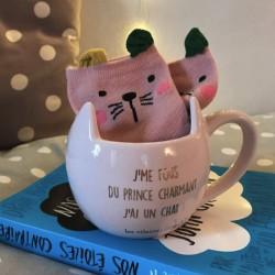Coffret Mug et Chaussettes Chat - Les Vilaines Filles