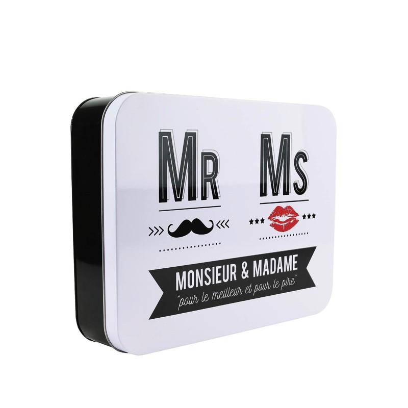 Boite en Métal - Mr & Mrs