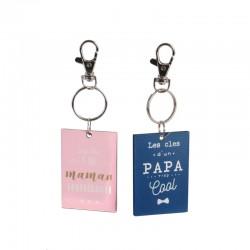 Porte-Clés Duo Bois - Maman / Papa