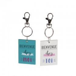 Porte-Clés Duo Bois - Chez Moi / Chez Toi
