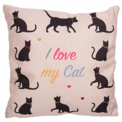 Coussin Chat 43 x 43 cm - I love my Cat