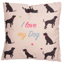 Coussin Chien 43 x 43 cm - I love my Dog