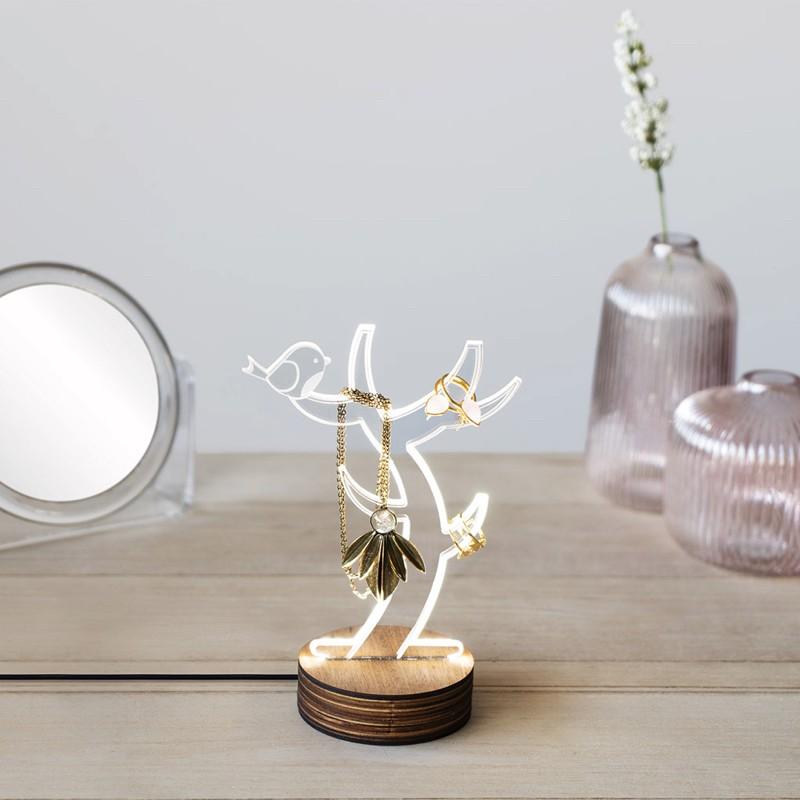 Lampe et Support à Bijoux - Light Tree