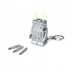 Porte-Clés Multifonction Robot avec Lumière