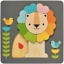 Puzzle en Bois 5 Pièces - Petit Lion
