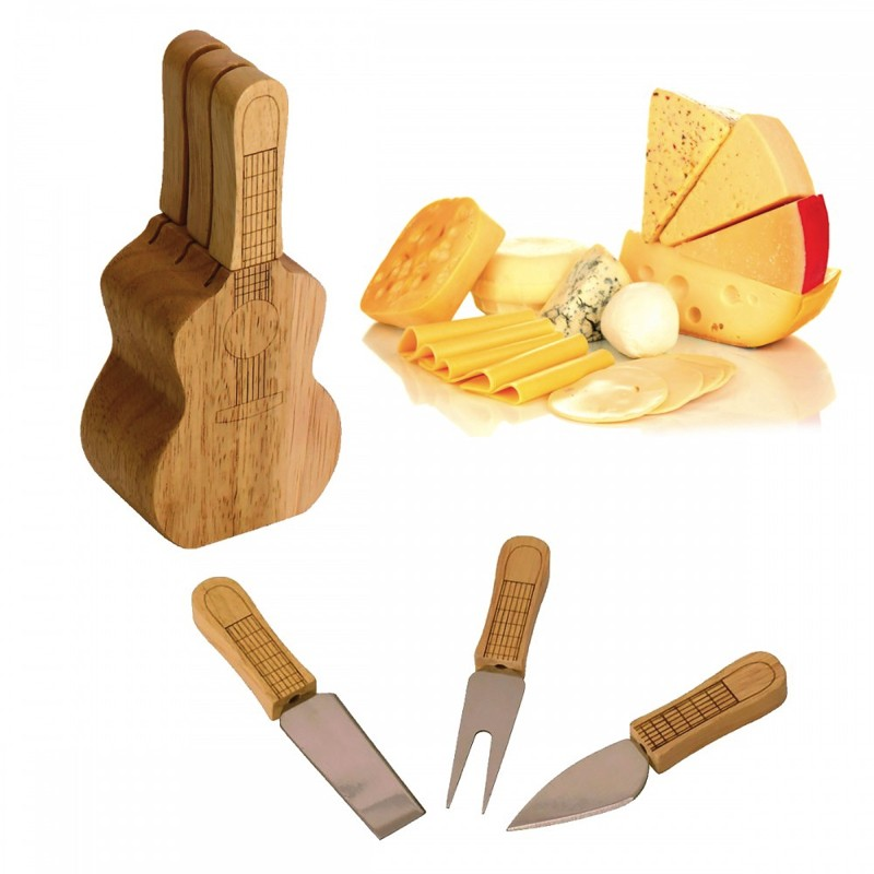 Set Couverts à Fromage Guitare
