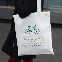 Tote Bag Motivée - Vélo