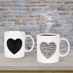 Mug Thermoréactif Mots d'Amour