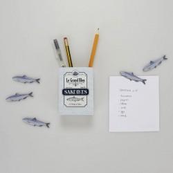 Pot à Crayons Magnétique - Sardines