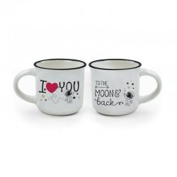 Tasses à Café en Porcelaine - To the Moon & Back