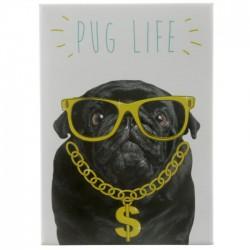 Aimant Chien habillé Pug Life