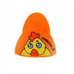 Pince Sonore Aimantée pour Frigo Orange Coq