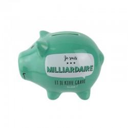 Tirelire Cochon Je Suis Milliardaire Vert