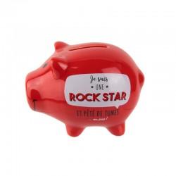 Tirelire Cochon Je Suis Une Rock Star Rouge