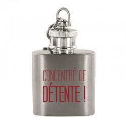Porte-clés Flasque Concentré De Détente Rouge