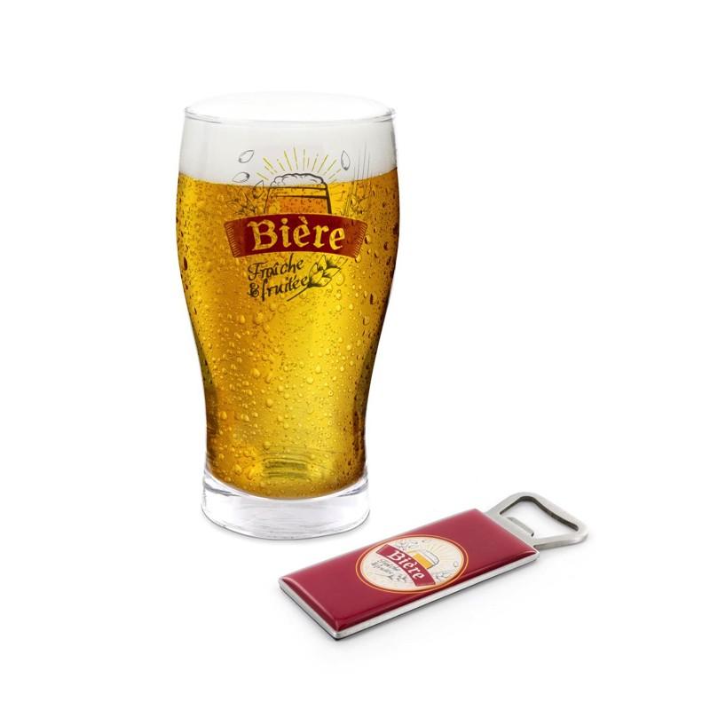 Coffret Bière Pinte et Décapsuleur