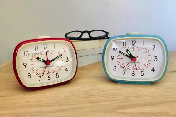 horloge réveil vintage