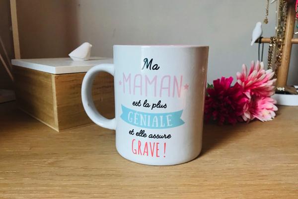 mug en ceramique maman geniale