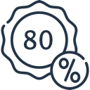 - 80 %
