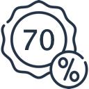 - 70 %